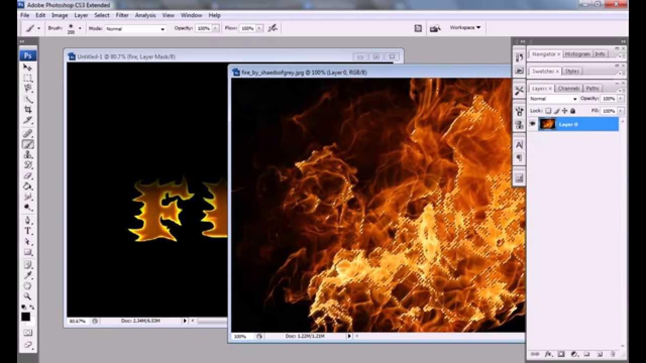 Realistic fire effect photoshop tutorial cs3 cs4 youtube realistic fire effect photoshop tutorial cs3 cs4 baditri Image collections