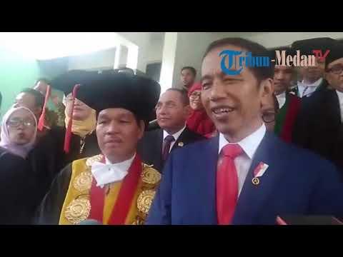 Jokowi Kaget dengan Sambutan Mahasiswa dan Dosen USU