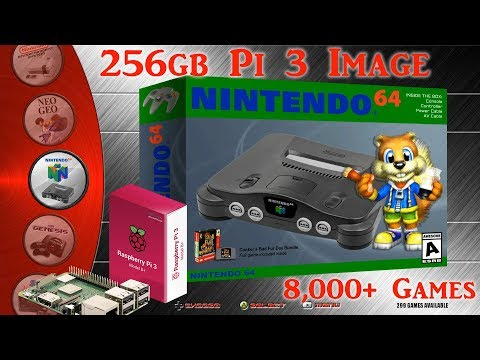 256gb Pi 3 B and B+ Ultimate Image Vman - 8,001+ Games PSX Dreamcast N64 SNES