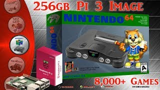 256gb Pi 3 B and B+ Ultimate Image Vman - 8,001+ Games PSX Dreamcast N64 SNES