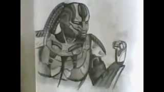 How to draw Cyrax - Mortal Kombat