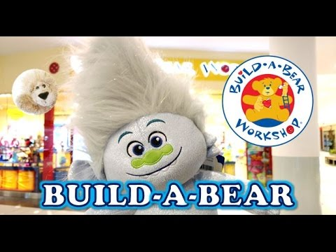 TROLLS Build a Bear GETTING STUFFED Movie Dreamworks Guy Diamond White Hair BuildaBear Workshop Toy