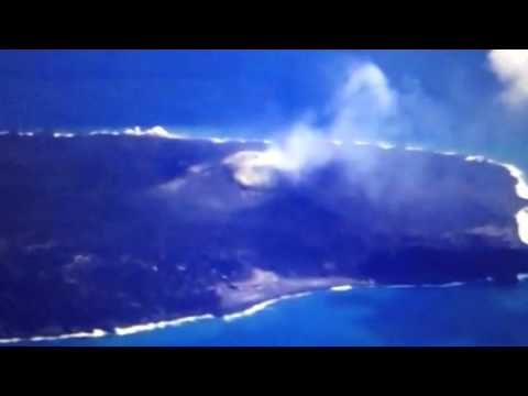 Japan Nishinoshima Volcano Spews Sulfur