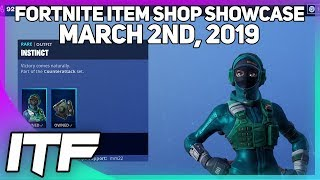 Fortnite Item Shop *NEW* INSTINCT SKIN AND REFLEX SKIN! [March 2nd, 2019] (Fortnite Battle Royale)