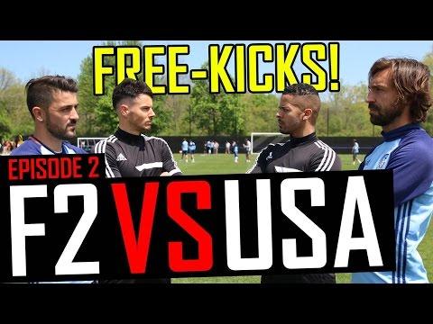 Pirlo & Villa Free-Kick Masterclass | F2 vs USA