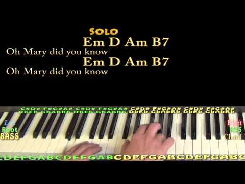 Mary Did You Know (CHRISTMAS) Piano Cover Lesson in Em with Chords/Lyrics