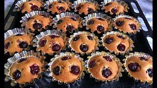 Супер Быстрые Кексы с Вишней за 5 Минут!!! / Маффины с Вишней / Cherry Muffins
