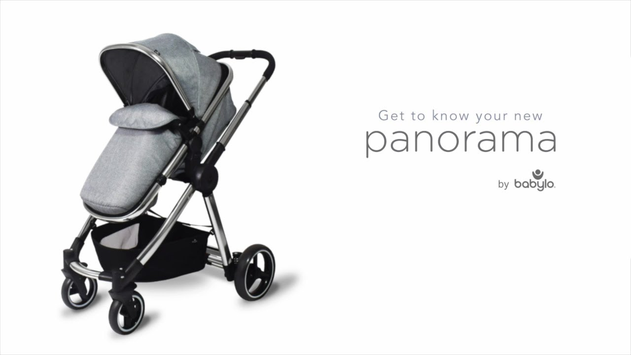 Babylo Cloud Panorama 3-in-1 Travel System carrycot from Birth to 9kg Reversible seat Unit up to 15kg Compact fold Chassis