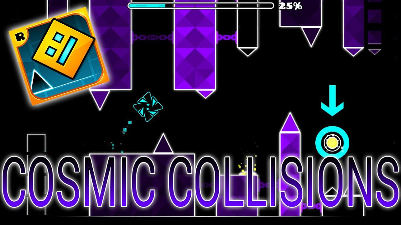 los niveles las largos ll cosmic collicions ll geometry dash los niveles las largos ll cosmic collicions ll geometry dash
