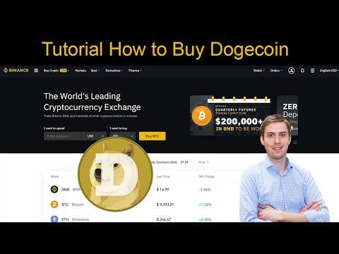 Tutorial How To Buy Dogecoin (Doge) On Binance ✅