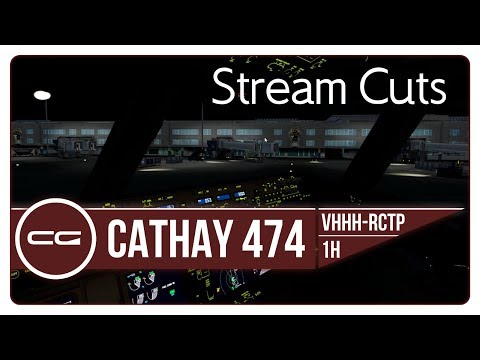 P3D v4 | 777-300ER Near-Midnight Arrival into RCTP Taipei Taoyuan | CPA474  | VHHH - RCTP