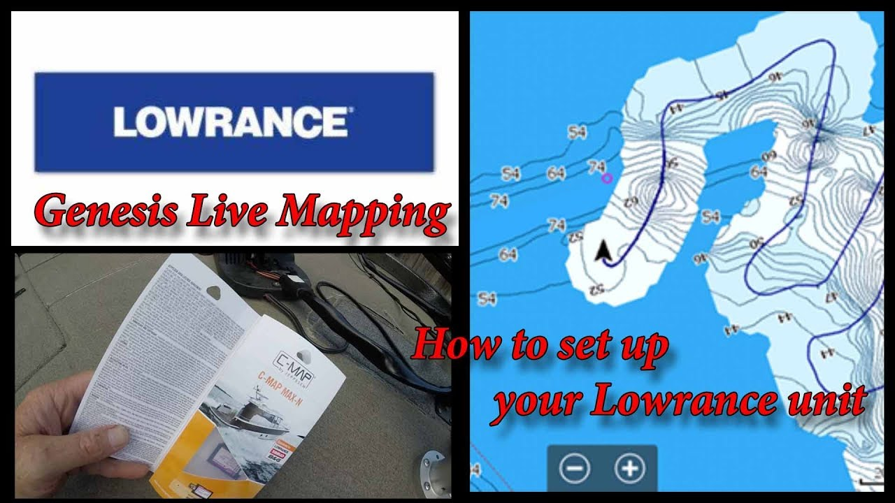 How to set up your Lowrance unit for Genesis Live mapping with or without a  C-Map card