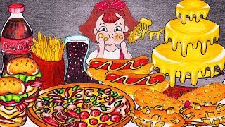 FAST FOOD Mukbang    Animation…