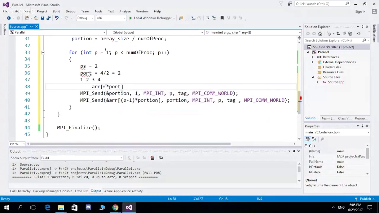 MPI_Send & MPI_Recev with C++ in MPI Library