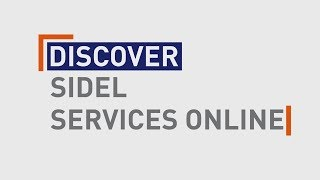 Sidel Services Online: fast, easy, real-time!