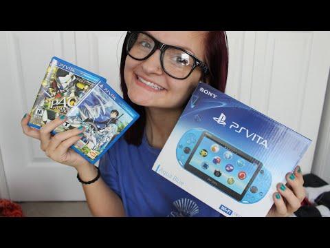Aqua Blue PS Vita Unboxing + Start Up + Games!   AlyssaNGames  
