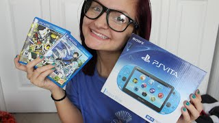 Aqua Blue PS Vita Unboxing + Start Up + Games! | AlyssaNGames |