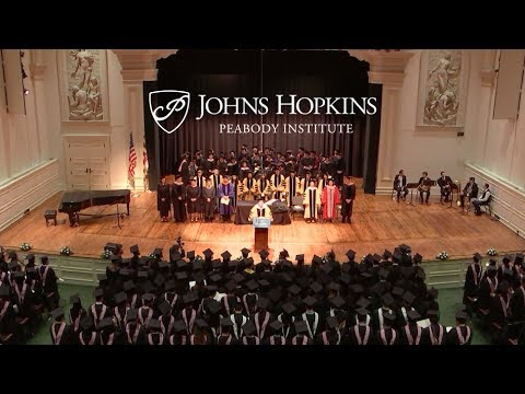 Peabody Conservatory Commencement May 2017