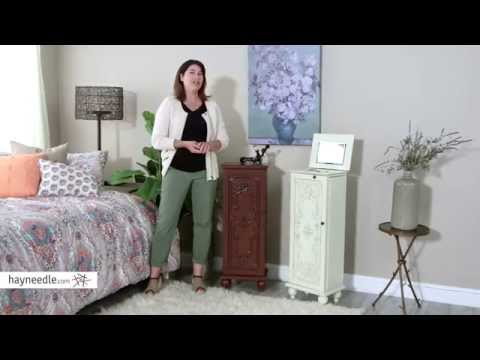 Belham Living Locking Ornate Door Jewelry Armoire - Product Review Video