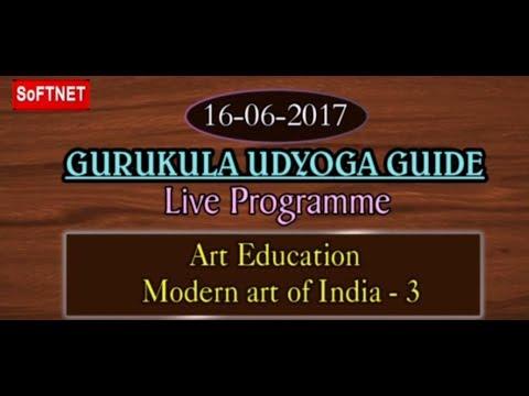 GURUKULAM || Art Education - Modern Art of India - P3 || LIVE INTERACTION With S. Santhosh