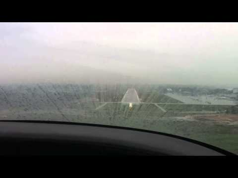 Landing at Seletar Singapore in Storm (WSSL) in a Columbia 350