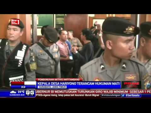 Sidang Perdana Kasus Pembunuhan Salim Kancil