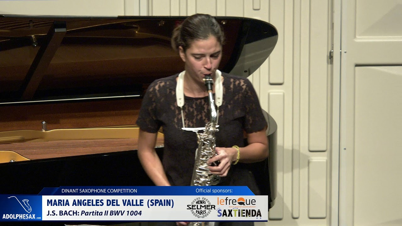 Maria de los Angeles del Valle Casado (Spain) -  Partita II by J S Bach (Dinant 2019)