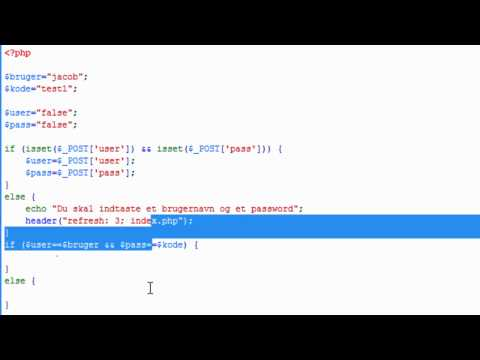 PHP skolen - login system PART 1 [dansk - tutorial, how to] HD