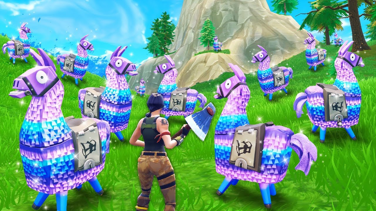 Loot llama land fortnite funny and best moments fortnite battle royale youtube - Fortnite llama background ...