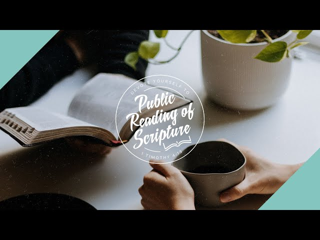 Public Reading of Scripture, November 15, 2020