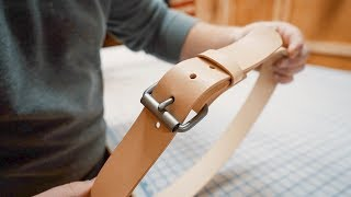 Making a SIMPLE Leather Roller Buckle Belt