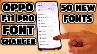 Hello guys welcome to technology master. today we present you oppo f11 pro fonts changer | change in pro. download link :- https://wp.me/p76ph...