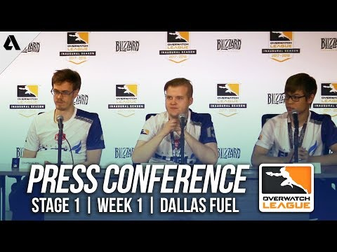 Dallas Fuel Day 1 Press Conference ft Taimou Mickie | Overwatch League OWL Stage 1 Week 1