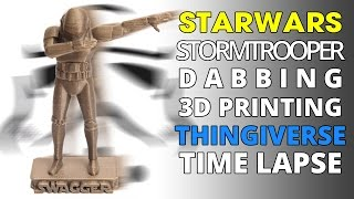 3D Printing Time Lapse | 3D Hubs Order Stormtrooper Dabbing Statue Model | Thingiverse Model