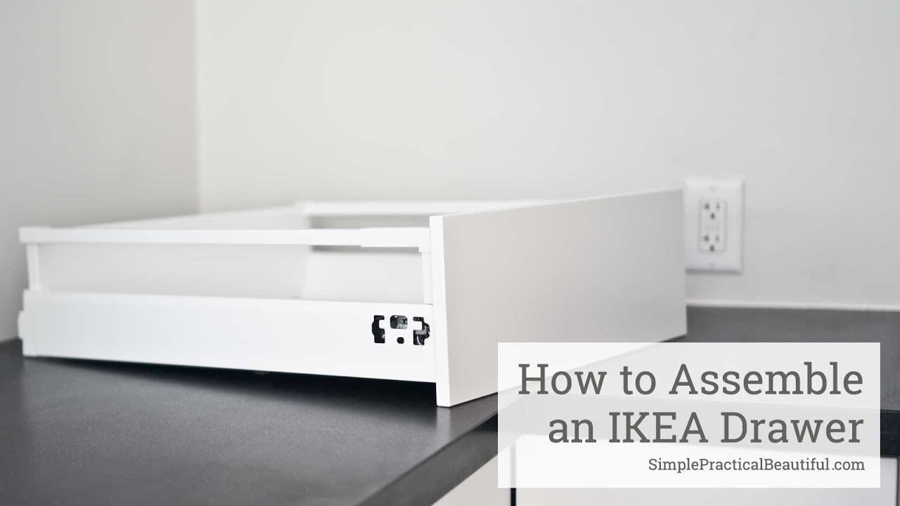 Ikea Faktum Assembly Instructions How To Assemble An Ikea Sektion Drawer
