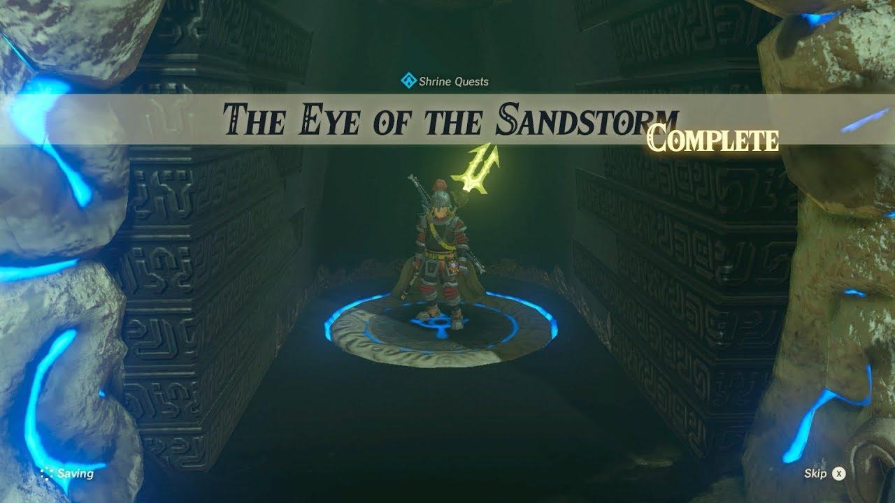 The Legend Of Zelda Breath Of The Wild The Eye Of The Sandstorm