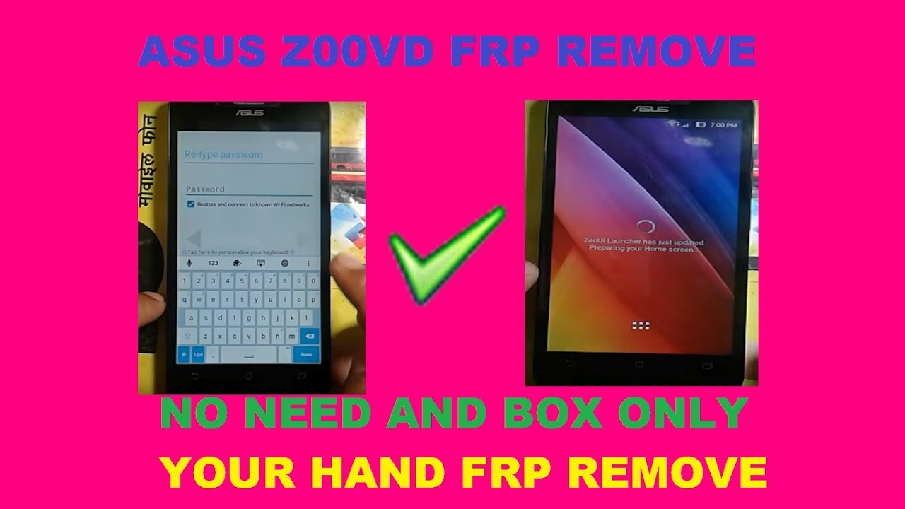 Asus Z00vd Frp Google Account Remove Easy Solution Youtube