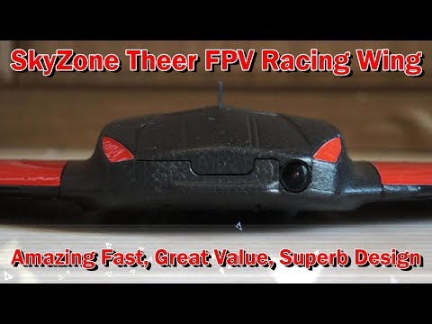 Skyzone Theer FPV Racing Flying Wing Capable of 110mph speed