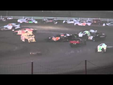 IMCA Sport Mod feature Jackson County Speedway Fall Bash 10/19/14
