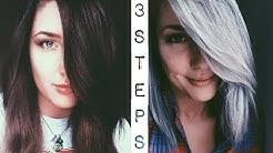 Dark Brown to Silver Hair | 3 Step Tutorial