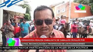 Chinandega realiza cabalgata de caballos criollos por la paz