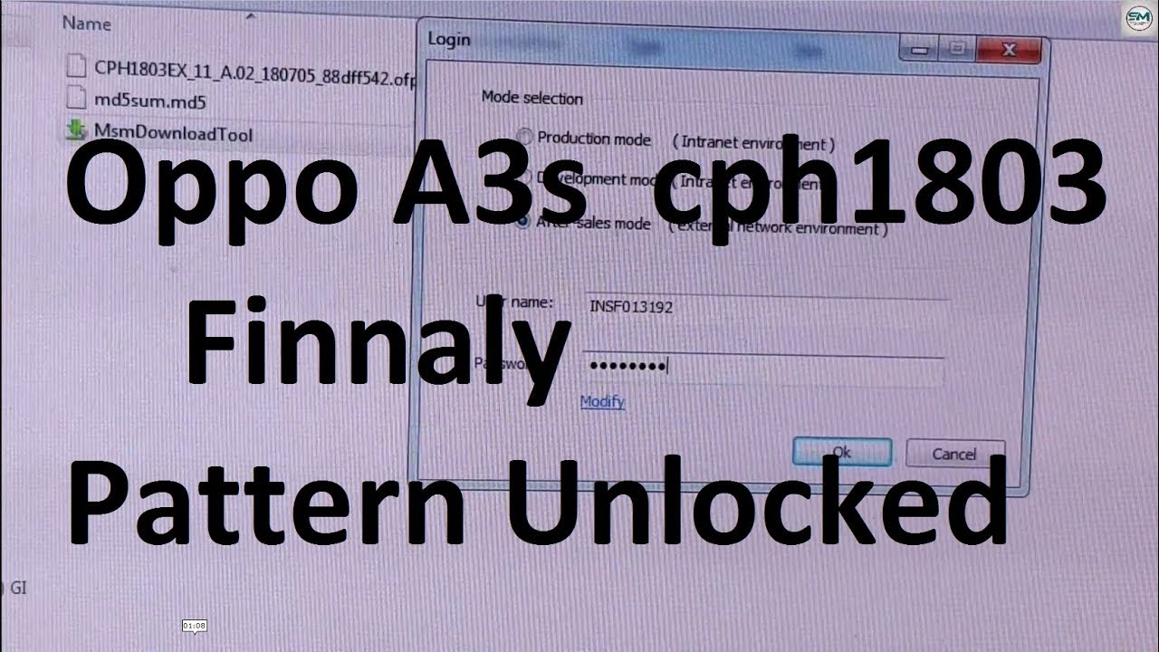 Oppo A3s Pattern Unlock Done 100% | By Sagar Mobile