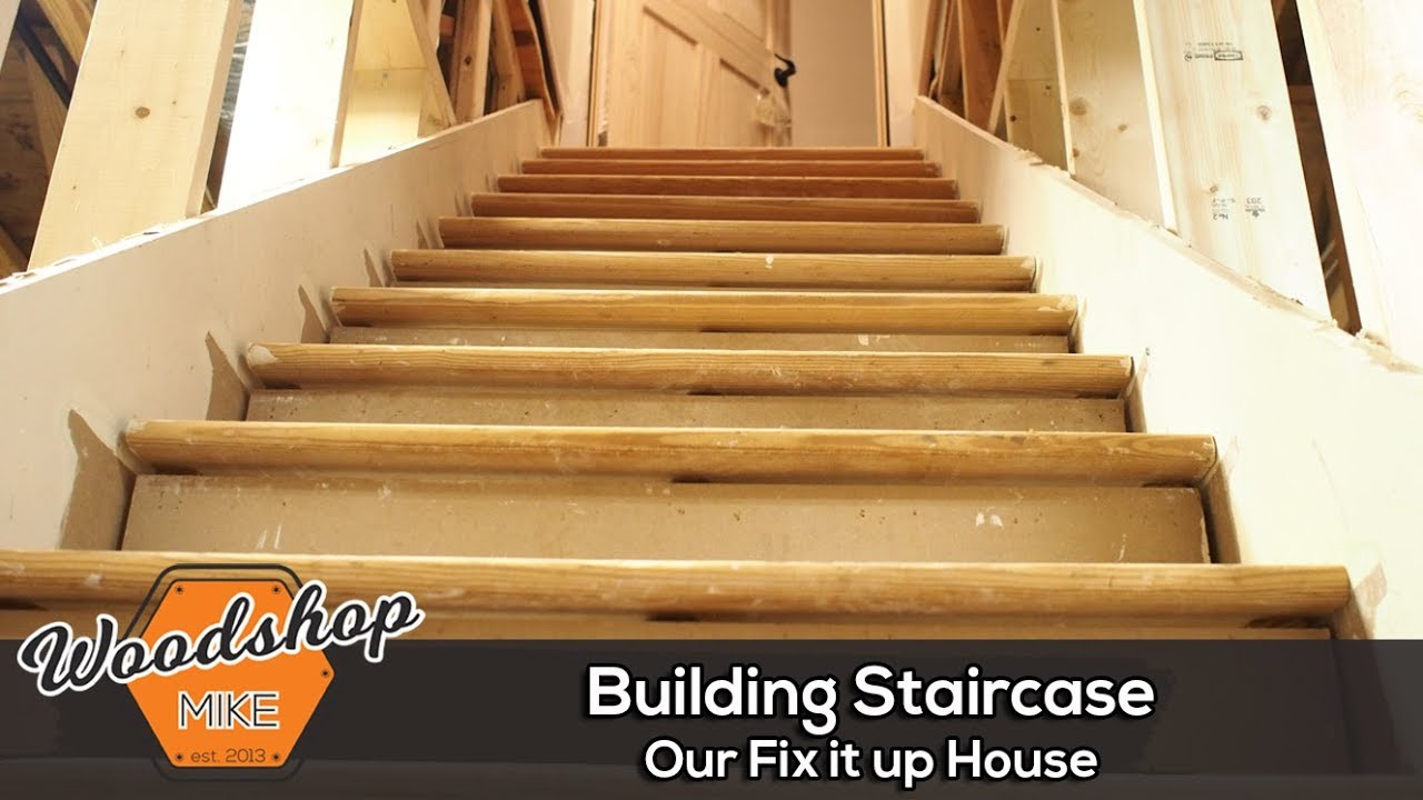 Beau Finishing Stairs, Our Fix It Up House