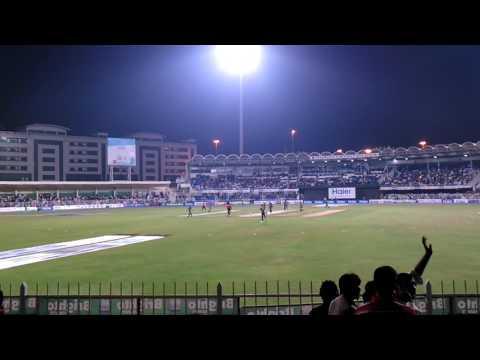 At Sharjah Cricket ground Dec,2014