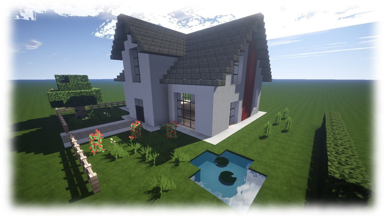 Minecraft Haus Tutorial | Einfamilienhaus [NEU: Download] - YouTube