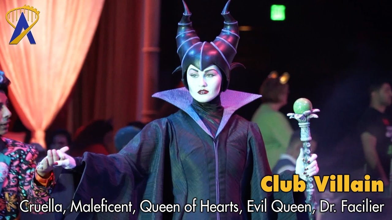 Club Villain Dr Facilier Introduces Cruella Maleficent Evil Queen Queen Of Hearts