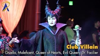 Club Villain - Dr. Facilier introduces Cruella, Maleficent, Evil Queen, Queen of Hearts thumbnail