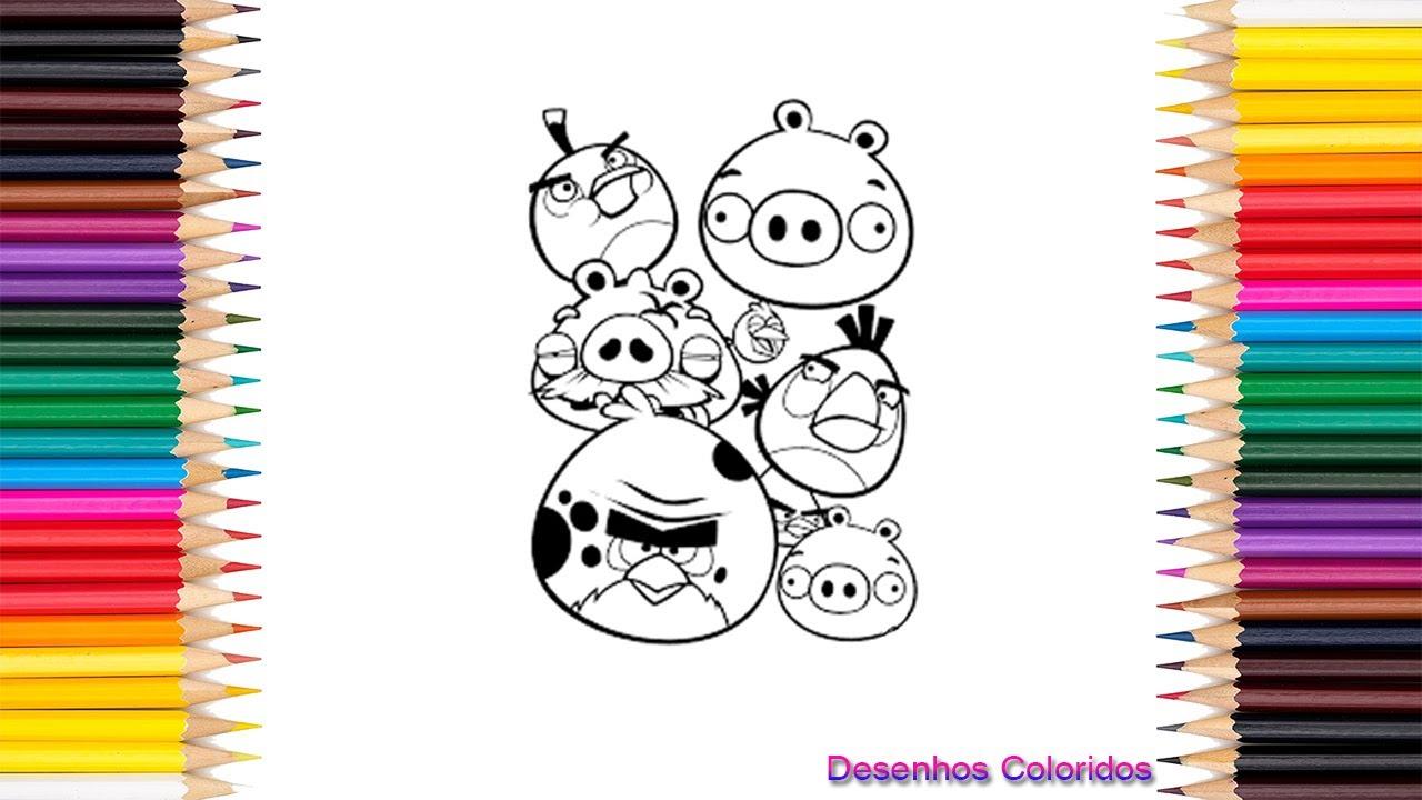 Colorindo Angry Birds I Desenhos Coloridos Youtube