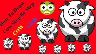 How To Draw Cow Step By Step|How To Draw Cow Face|How To Draw Cow For Kid