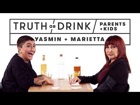 Parents & Kids Play Truth or Drink Yasmin & Marietta  Truth or Drink  Cut